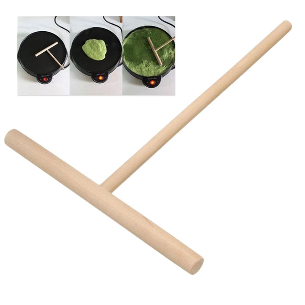 1Pcs DIY Use Pie Tools Crepe Maker Pancake Batter Wooden Spreader Stick Home Kitchen Tool Kit Wholesale