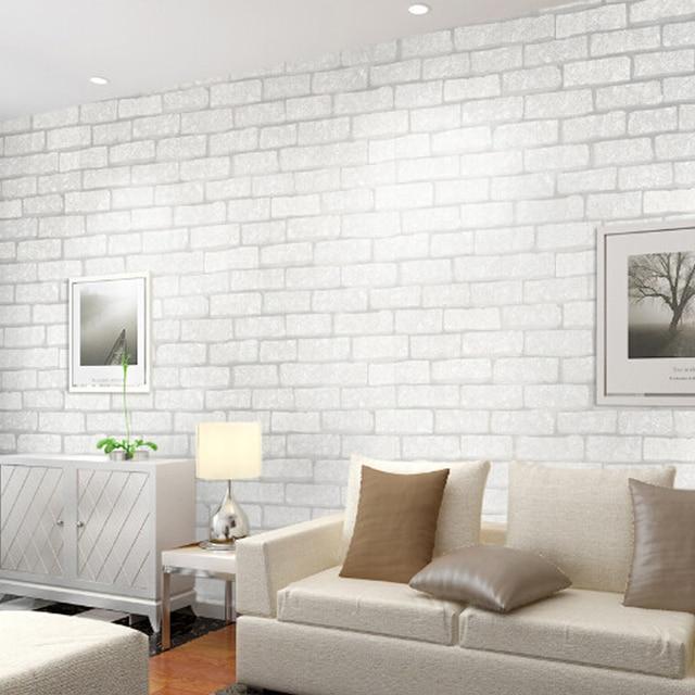 Vintage Embossed Wallpaper Retro Brick Wall Roll Modern 3D