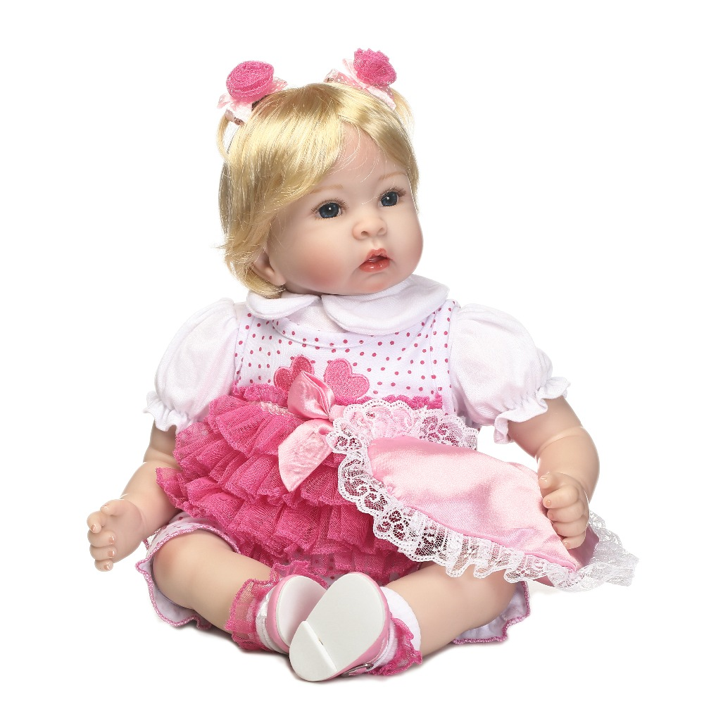 doll alive reborn doll with soft real gentle touch vinyl silicone free shipping with blonde hair gril doll for children's Gift цена