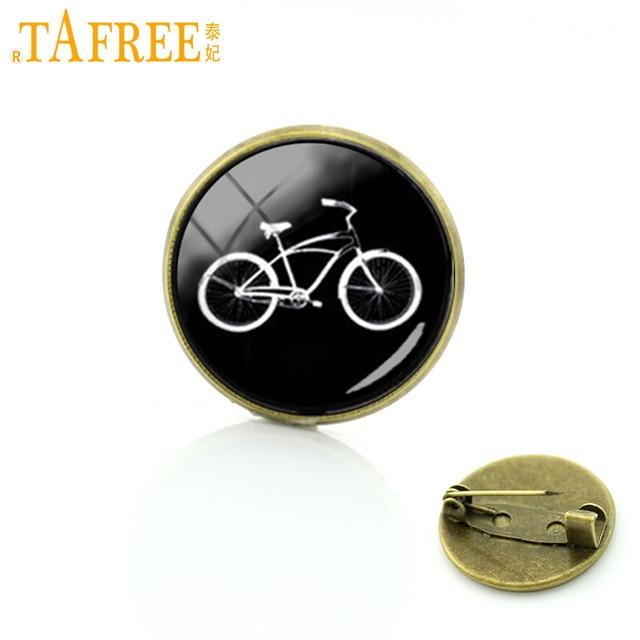TAFREE Sport bike silhouette perni d'epoca etnico di stile della bicicletta auto trattore spille donne degli uomini pantaloni a vita bassa accessori distintivo T640