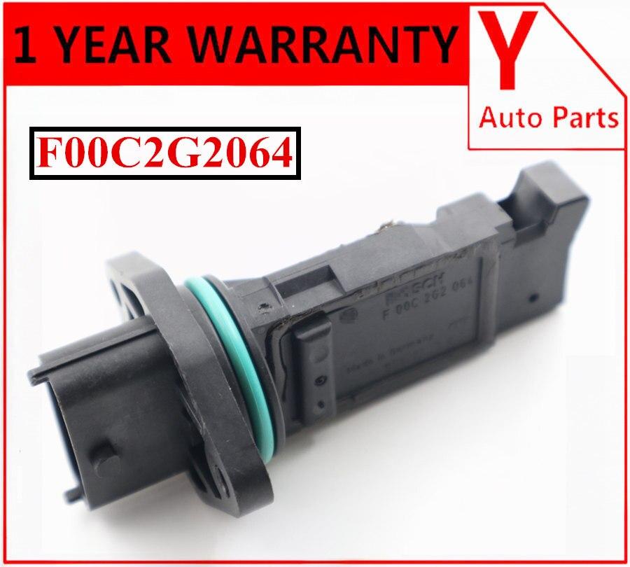 Original used MAF mass air flow sensor F00C2G2064 5pins for VOLVO LADA Chevrolet Niva F 00C