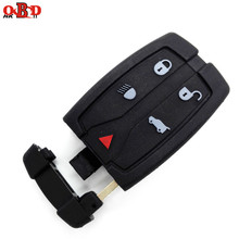 HKOBDII 4+1 Buttons Remote Car Key Smart Card 433MHZ with 46 electronic chip For Land Range Freelander 2