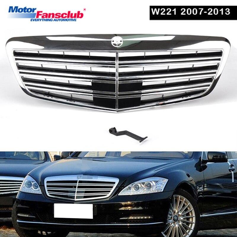 1 pz Auto Da Corsa Griglia Per Mercedes Benz W221 Griglia MB S550 S63 2007-2013 S63 S65 Maglia del Bicromato di potassio radiatore Paraurti Anteriore Inferiore Modificare