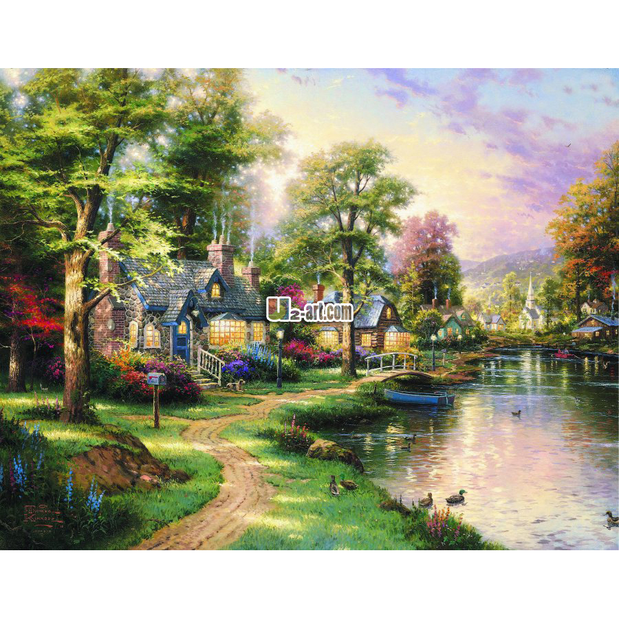 Beautiful natural scenery picture landscape painting ...