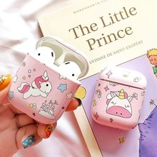 Cute Unicorn Stars Earphone Case For airpods case Bluetooth Wireless Headphone Accessories Protective Cover For airpods 2 case