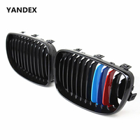 1 Series e81 e87 e82 e88 Racing Grill ABS Glossy Black for BMW 2008 2011 116i 118i 118d 120i 120d 123d 125i 128i 130i
