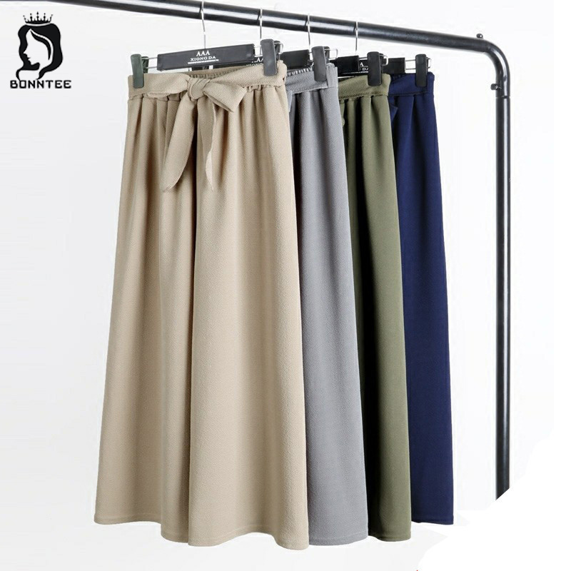 Newest Trendy Women Bow   Wide     Leg     Pants   Womens Fashion Ladies Casual Female Loose High Waist Trousers Solid 6 Color Females   Pant