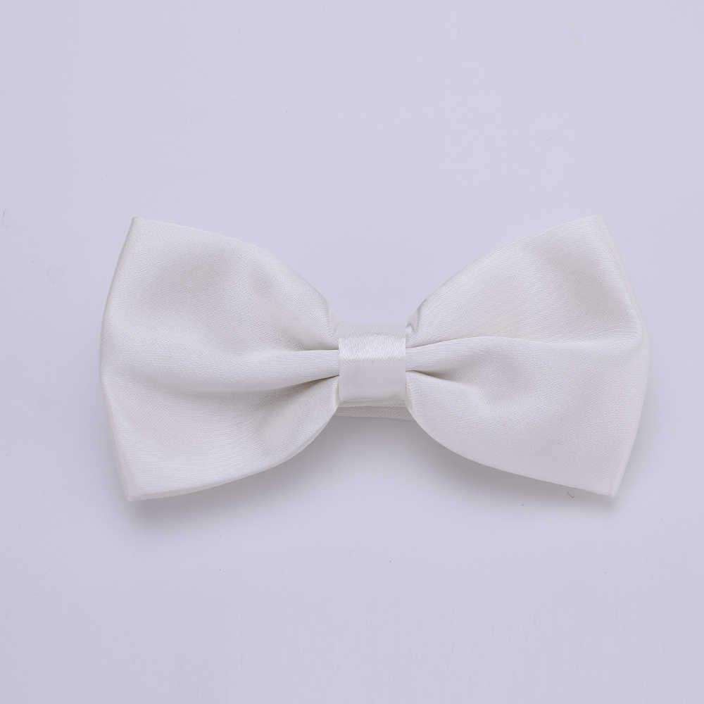 HUISHI Cravatte da Uomo Bianco Legame di Arco di Modo Smoking Misto Solido Colore del Nodo Della Farfalla Bow Wedding Party Bowtie Cravatte per gli uomini Gravata