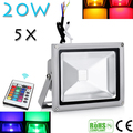 5pcs 30W RGB Beautiful Design  LED Outdoor Waterproof Flood Light Wash Floodlight Lighting Spot Floodlight Remote Control