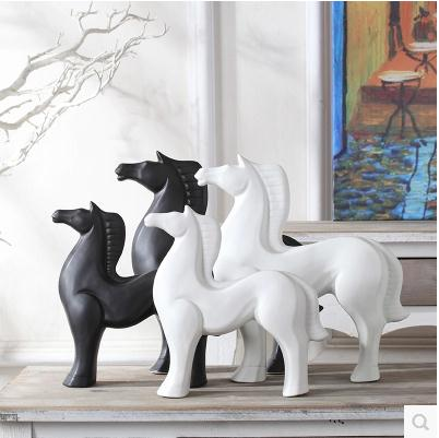 Ceramic horse Home Furnishing crafts, decorative items, small desktop ornaments, Nordic style