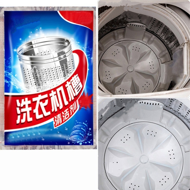 2 packs High-quality washing machine tank cleaner Effective decontamination cleaning agent barrel remover cleaning Supplies 1