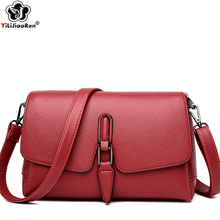 High Quality Leather Shoulder Bag Girls Famous Brand Women Fashion Crossbody Simple Messenger Bags for 2019 Sac A Main