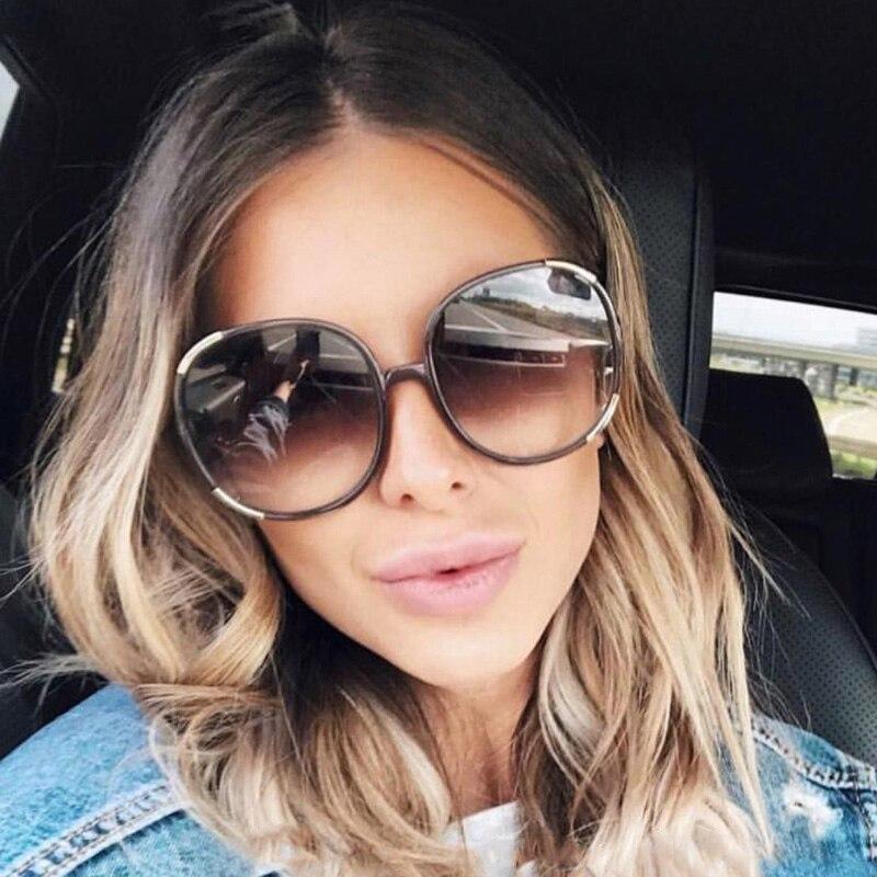 FEISHINI Gradiente Oversized Mulheres Óculos De Sol Grande Armação De  Plástico Branco Transparente Moda Colorida Unisex 29dfe6761d