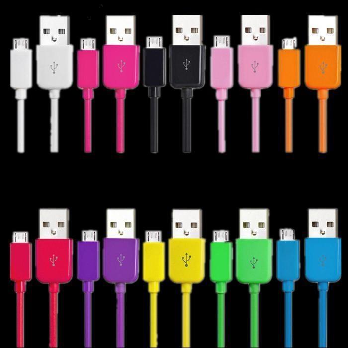 imágenes para Promoción 5000 unids 1 m v8 micro usb cable de línea para samsung s1 s2 s3 i9300 htc one x lg motoeola blackberry dhl fedex envío
