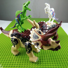 New Jurassic World 2 Tyrannosaurus Rex Triceratops Building Blocks Jurassic Dinosaur Figures Bricks Toys Collection Toy legoings jurassic world 2 tyrannosaurus rex building blocks jurassic dinosaur figures bricks toys collection toy