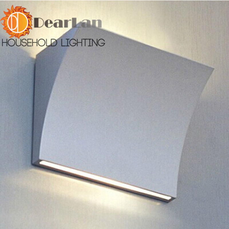 Modern Aluminum Foyer Wall Lamp Dining Room Light Loft Lamp Free Shipping modern white iron foyer bed room wall lamp dining doom light e27 v110 v240 free shipping