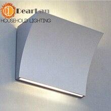 Современный алюминиевый фойе бра столовая лофт лампы бесплатная доставка
