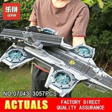 3057Pcs LEPIN 07043 Super Heroes The SHIELD Helicarrier Model Building Kits Blocks Bricks Boy Toys Compatible 76042