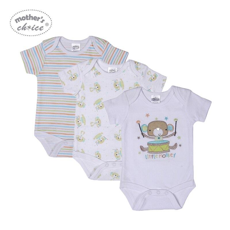 Mother's Choice 3 szt. Body niemowlęce bawełna noworodek chłopcy - Odzież dla niemowląt - Zdjęcie 1