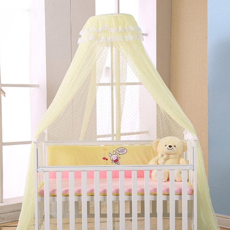2018 Kamimi Baldachin Baby Moskitonetz Kinder Hing Dome Moskitonetz Soild Gedruckt Vorhang Für Baby Schlafzimmer Dekoration C096 Feine Verarbeitung