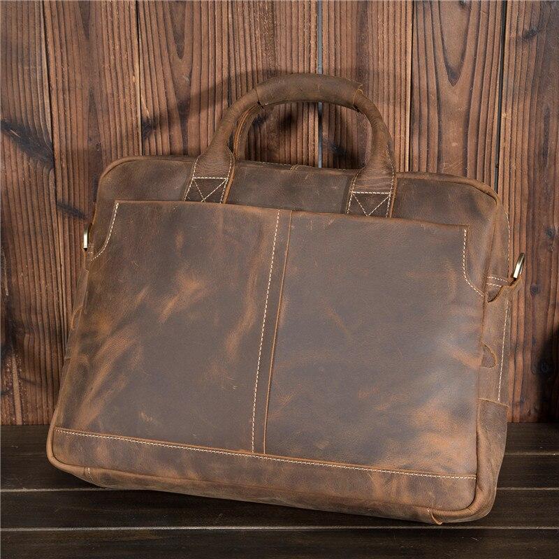 Shoulder Genuine Leather Men Casual Briefcase Business Messenger Handbag Crossbody Shoulder Bag For Man 15 Inch Laptop Bag 1019