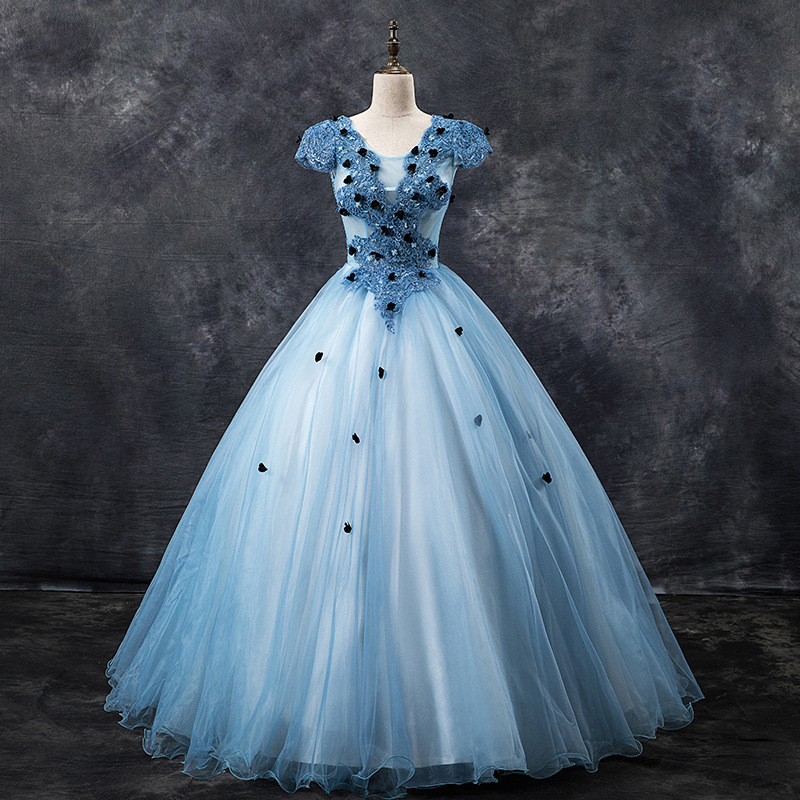 Prom Dresses 2019 Mrs Win The Elegant Lace Embroidery  Ball Gown Vintage Party Homcoming Gown Plus Size Dress F