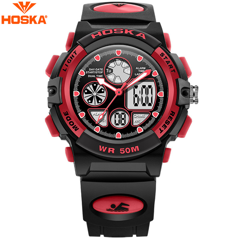Back To Search Resultswatches Hoska Mens Watches Digital Wristwatches Black Rubber Sporty Fashion Outdoor Alarm Auto Date Led El Backlight Watch H003b Men's Watches