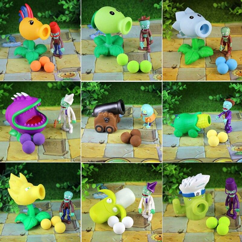 NOUVEAU PVZ 28 styles Nouveau Jeu растения против зомби Sarbacane PVC figurine Modèle Jouets anime figurine pois tournesol Melon 10CM