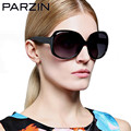 Parzin Vintage Polarized Sunglasses Women Tr 90  Oversized Sunglasses Female  Driving Glasses Eyewear  Black  With Case 9801