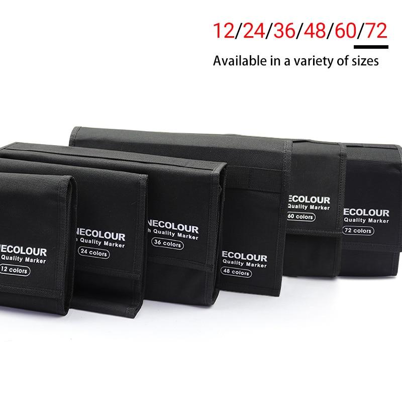 Finecolour Marker Storage Bag 12/24/36/48/60/72 Set For Marker Pens Multifunctio Pen Bag S/M/L Marker Bag For School Supplies