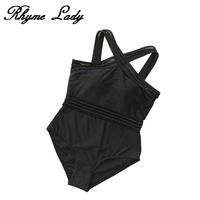 Rhyme Lady New One Piece Swimsuit Off Shoulder Swimwear Women Print Floral Swimwear Monokini Bandage Push