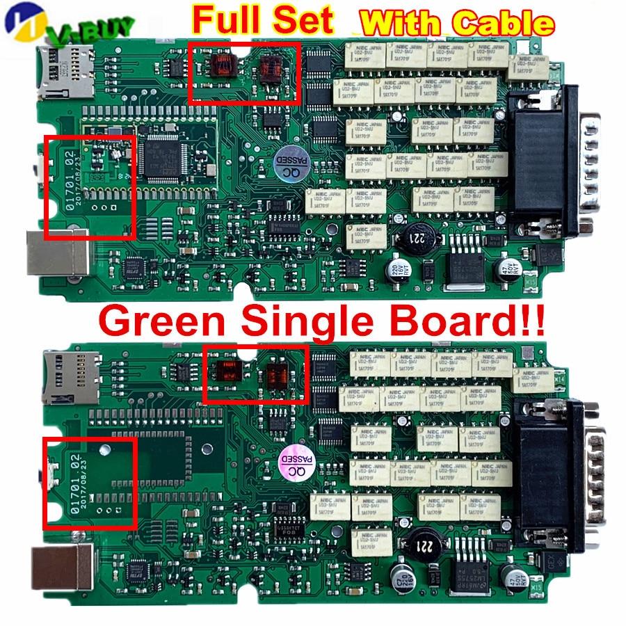 Ensemble complet A + qualité rouge 701 OBDIICAT-CDP PRO vert relais simple carte PCB OBDIICAT-150 nouveau vci avec BT 2015. R3/2016R1 + Keygen