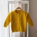 Новый 2017 весной и осенью новый стиль детские младенческой ребенок кардиган свитер вязание хлопок свитер мальчики и девочки случайные свитер