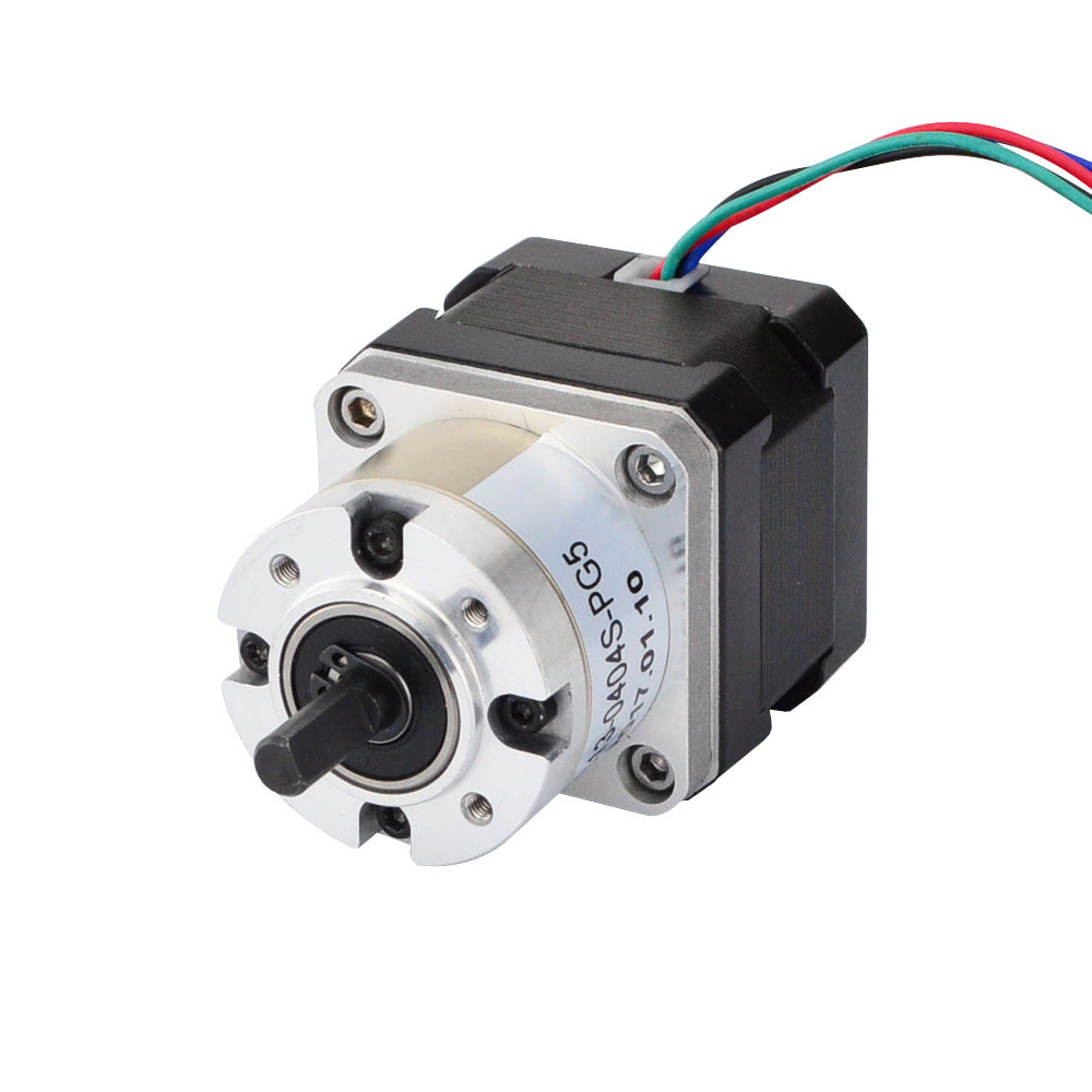 Nema 17 Stepper Motor Bipolar L=33mm w/ Gear Ratio 5:1 Planetary Gearbox nema 17 gear stepper motor l 26mm with planetary gearbox ratio 40 1