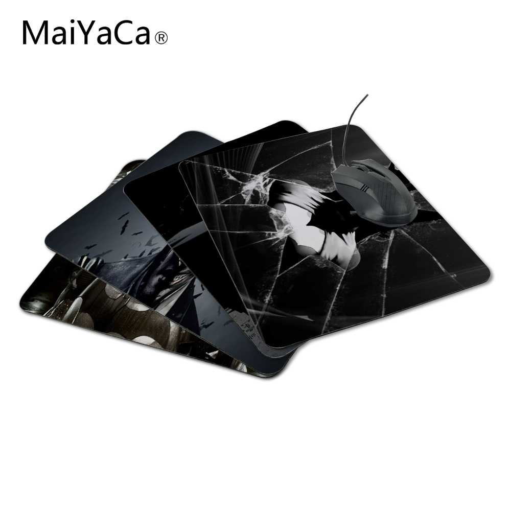 MaiYaCNew Ankomst 2017 Custom Batman Slim Silicone Laser Mouse Pad Superhero Anti-Slip Mousepad Soft Rubber Mat for Optical Mouse