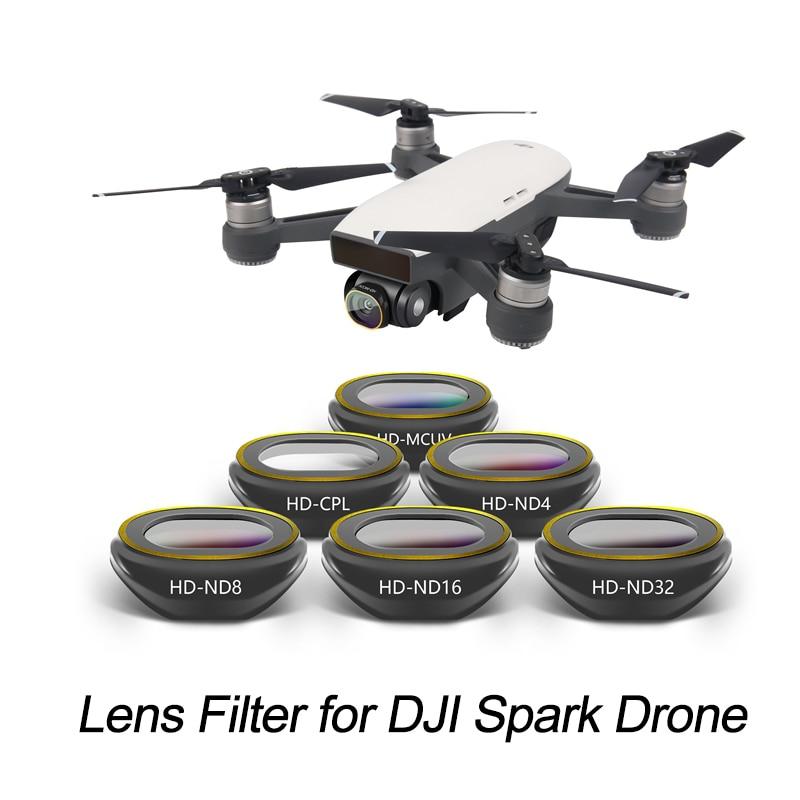Drone DJI Spark Filter Drone Camera Gimbal DJI Spark Lens Filter UV CPL ND4 ND8 ND16 ND32 for DJI Spark Accessories квадрокоптер dji spark красный
