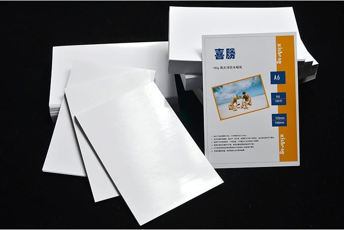 2018 New hot 180g 100 sheets photo paper a6 glossy photo ink jet printer Picture papers waterproof inkjet Office School Supplies