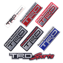 цена на Car TRD Logo 3D Racing Metal Sticker Auto Emblem Badge Decal For Toyota CROWN REIZ COROLLA Camry VIOS Car Styling Accessories