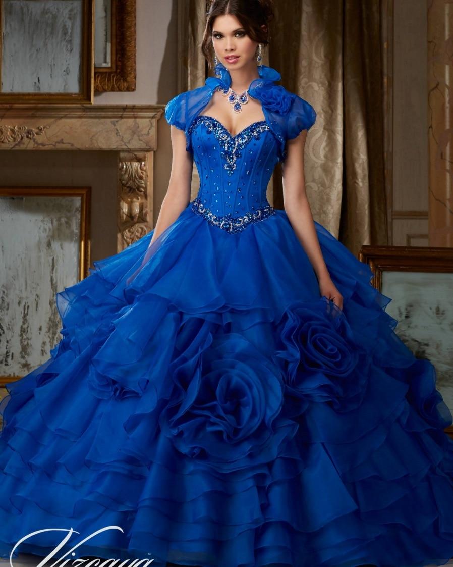 c81c7e167 Princesa Populares Debutante Vestido Azul Real Vestidos de Quinceañera 2016  Dulce vestido de Bola Puffy Vestidos de Quinceañera Durante 15 Años en  Vestidos ...