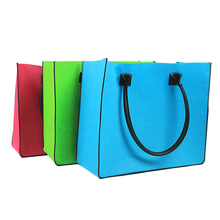 daddd56f01 wholesale 50pcs lot custom company logo Felt Casual Totes Shopping Bags  Fashion Brand Handbags Women
