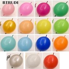 BTRUDI 50pcs/lot 10inch 2.5g Link balloons Wedding Party Decorations tail ballon Home & Garden /Event Supplies