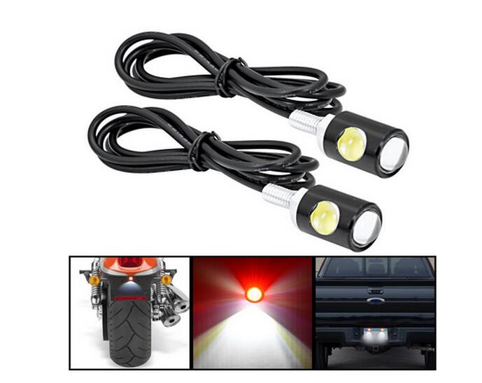 1pair Bright motorcycle general led screw lamp refires motorcycle back light license plate lamp Motorcycle accessories
