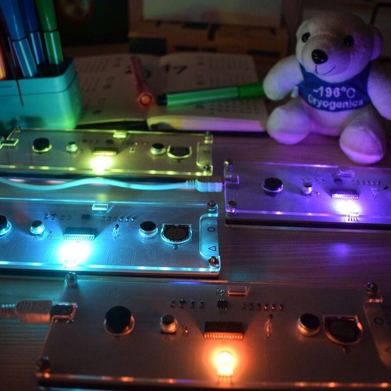 DIY большой Экран 6 цифр два-Цвет светодиодный часы комплект Touch Управление w Temp/дата/неделя почасовой звонок с подсветкой вспышка напомнить
