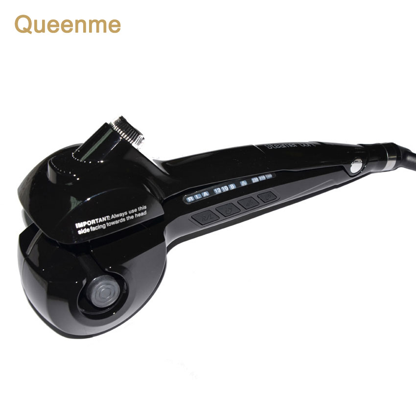Queenme Professional Hair Curler Styling Tools Digital Ceramic Wave Hair LCD Titanium Automatic Magic Curling Iron Hair Stick professional hair waver wave curler titanium ceramic hair curling iron 3 barrel clamp wave curler rollers styling tools