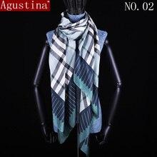 silk Scarf lattice print fashion tartan scarfs women and Shawl wrap Hijab high quality summer for cape scarves stoles sciarpa