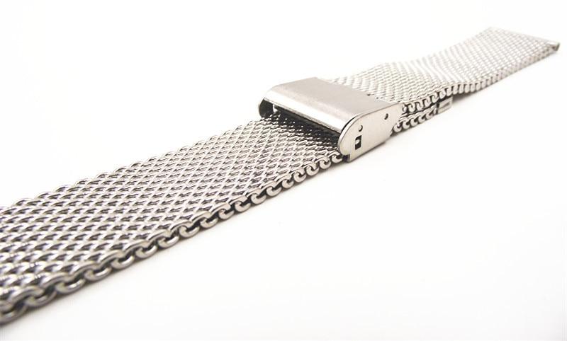 Image 4 - Wholesale High quality 10PCS/lot 18MM ,20MM ,22MM Stainless Steel  Watch band Watch strap Bracelets Strap sliver color WBS001bracelet  amuletbracelet packagingbracelet rondelle