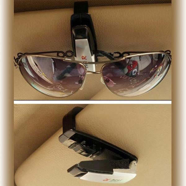 Lunettes Clip lunettes de Soleil Clip Lunettes Dossier Approprié pour tous  les verres Installé sur le pare-soleil automatique conseil   SD-1301 fcc397b882d4