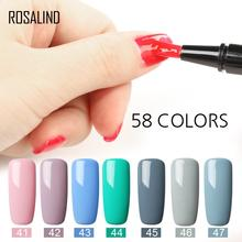 ROSALIND 58 colores remojo-off UV LED Gel esmalte pluma uñas arte multicolor pintura Gel barnices base manicura 5 ML(China)