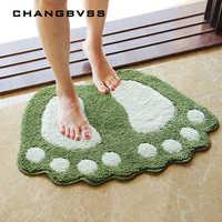 Alfombrillas de baño con estampado de pies, alfombra antideslizante Para baño, Tapete Para baño Para Banheiro, alfombra de baño alfombrilla de baño alfombras, Mini esteras de microfibra