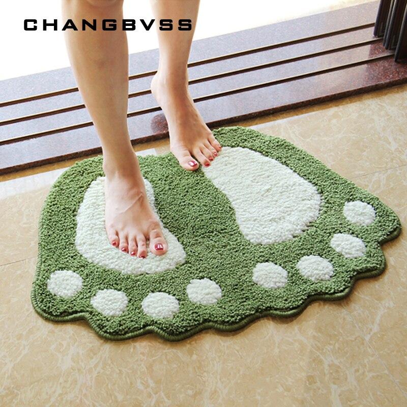 Foot Print Bath Mats,Non-slip Bathroom Carpet,Mat Toilet Tapete Para Banheiro,Bathroom Rug Bath Pad Carpets,Microfiber Mini Mats